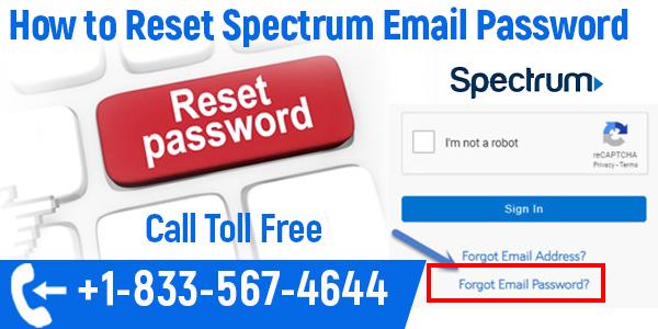 spectrum email password reset